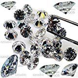 Cubic Zirconia/CZ Clear Each 5 PCS Round Cut/Shape Cubic Zirconia/White CZ Loose Stones' 5A / AAAAA (NOT 3 A/AAA)' Synthetic Fake Diamond in U.S Shipper (8.00 MM - 5 PCS)