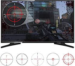 eXtremeRate FastScope No Scope TV Decal for FPS Games on PS4 PS3 Xbox One Xbox 360 PC (10pcs in 2 Size 5 Designs)