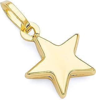 14k Yellow Gold Star Charm Pendant