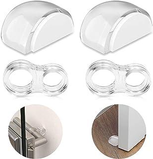 CNXUS Dörrstopp för golv, osynlig självhäftande dörrstopp, dörrkil dörrhandtag, dörrhandtag, stötfångarskydd, PVC dörrhand...