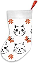 Cat White Animals Animal Christmas Stockings 16.5 Inch Plush Decorations for Family Celebrate Seasonal Decor Tree Ornament...