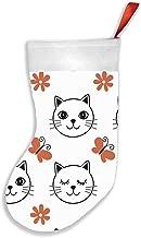 Cat White Animals Animal Christmas Stockings 16.5 Inch Plush Decorations for Family Celebrate Seasonal Decor Tree Ornament...