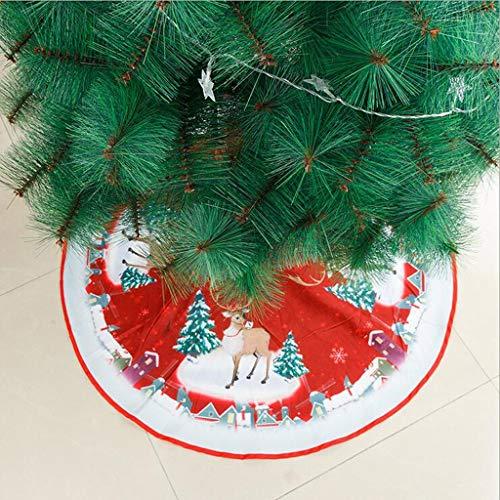 Lemoning Christmas Decorations for Living Room, Christmas Tree Skirt Ornament 39 Inch Diameter Christmas Tree Bottom Decoration