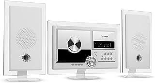 auna Stereo Sonic Dab+ - Equipo estéreo, sintonizador de Radio Dab+, Posibilidad de Montaje en una Pared, Bluetooth, Puert...
