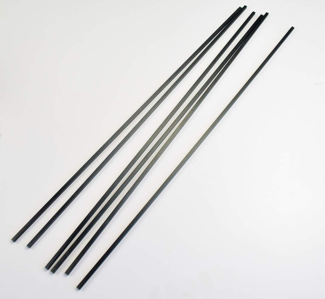 cncarbonfiber 6 pcs 4mm Square Carbon Fiber Tubes 4x4x3x420mm Inner Round ,Pultruded Carbon Fiber Rods Diameter 3mm