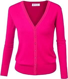 Women Long Sleeve Button Down Soft Knit Cardigan Sweater