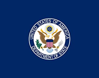 DIPLOMAT-FLAGS United States Department of State Flag | Landscape Flag | 0.06m� | 0.65sqft | 22x28cm | 10x11inch Car Flag Poles