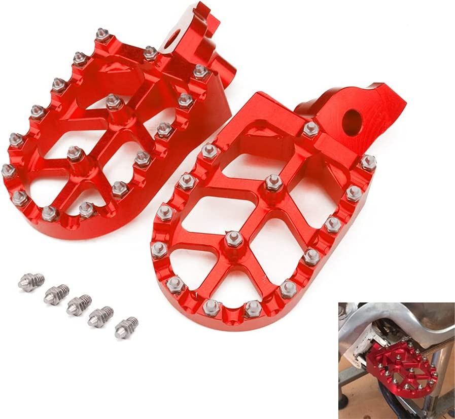 Dirt Bike Soldering Foot Pegs CNC Pit Motorcycle Peg Footrest Wide Houston Mall Fo