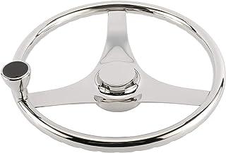 "DasMarine Stainless Steel 15-1/2"" Sport Wheel Boat Steering Wheel with Control Knob,Fit 3/4"" Shaft,7/8"" Rim Size"
