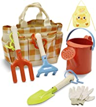 Homegician Kids Gardening Tools Set - Kids Metal, Shovel, Rake, Trowel in One Tote Bag, Including Watering Can, Gardening ...