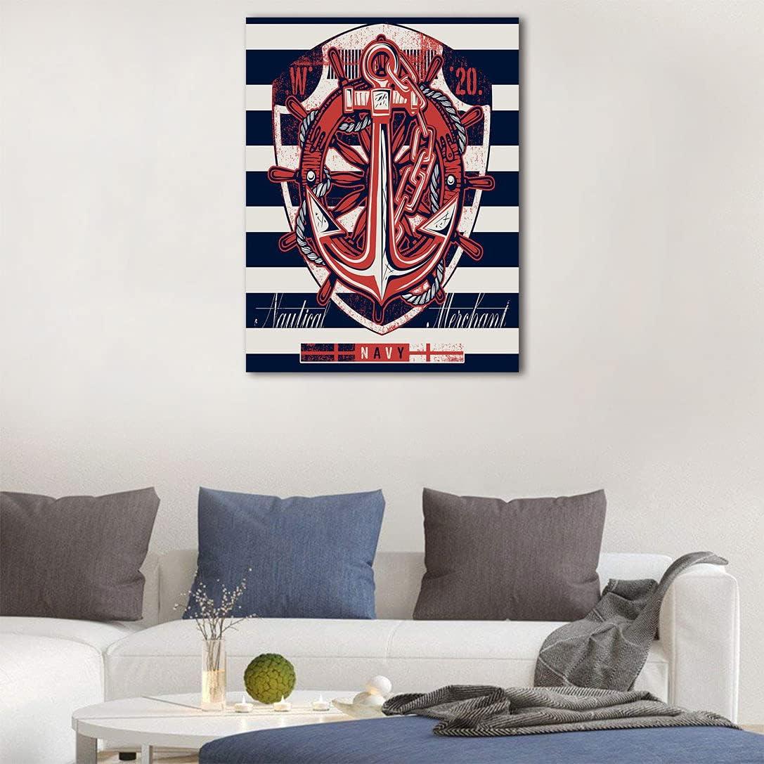 Anchor Art Deco Decal Sticker Marine Design Rudder Regular discount A Rope Memphis Mall Symbol
