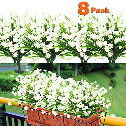 8PCS Artificial Flowers Outdoor ...