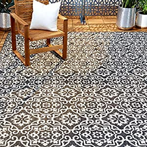 Home Dynamix Nicole Miller Patio Country Danica Area Rug, 5'2″x7'2″, Black/Gray