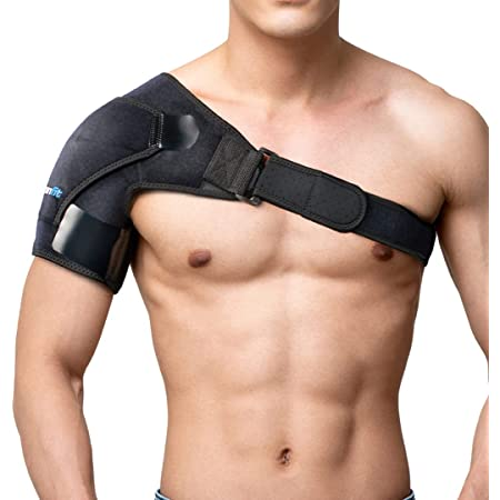 Recovery Shoulder Brace and Arm Sling for Men & Women by BRANFIT, Shoulder Compression for Injury Relief and Adjustable Comfort, Right/Left