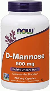NOW Supplements, Certified Non-GMO, D-Mannose 500 mg, 240 Veg Capsules