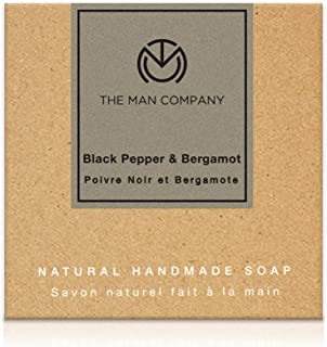 The Man Company Skin Whitening & Brightening Soap with Blackpepper and Bergamot for Glowing Skin -125gms