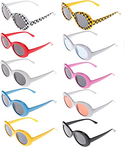 10-Pack Xgood Oval Mod Sunglasses