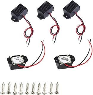 tatoko 5PCS Mini Buzzers with Leads - 12V 400Hz Morse Code Mechanical Electronic Components