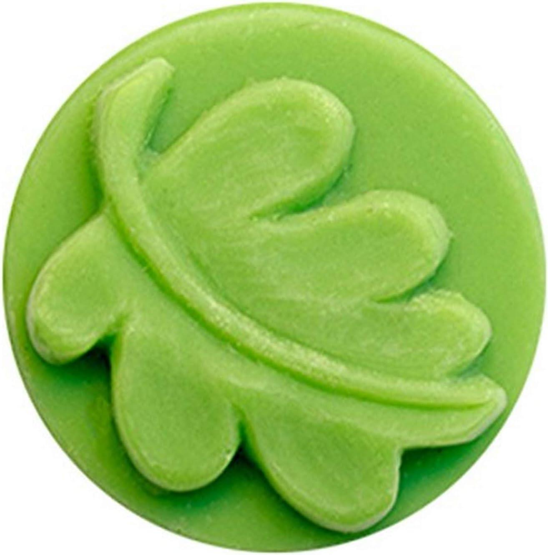 CybrTrayd Super sale Small Boston Mall Round Leaf Soap Mold Standard Clear