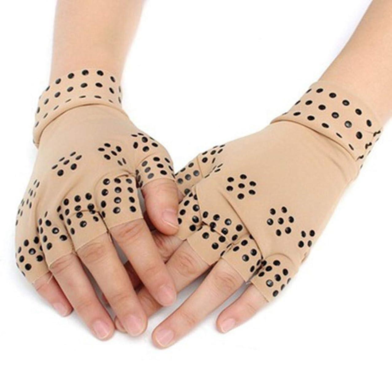 極貧ジョイント好きであるAngzhili 磁気手袋 関節炎療法手袋 着圧手袋 指なし手袋 磁気療法 関節炎 関節ストレス 手首サポーター 関節炎解消 リウマチ性手痛 1ペア