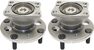Wheel Hub and Bearing For 2011-2017 Ford Fiesta Rear Left and Right FWD With ABS Encoder Lug Bolts