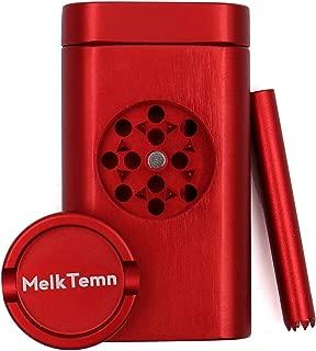 MelkTemn New Design Premium Aluminum Spice Herb Grinder with Pollen Catcher, 2.75 Inch, Red