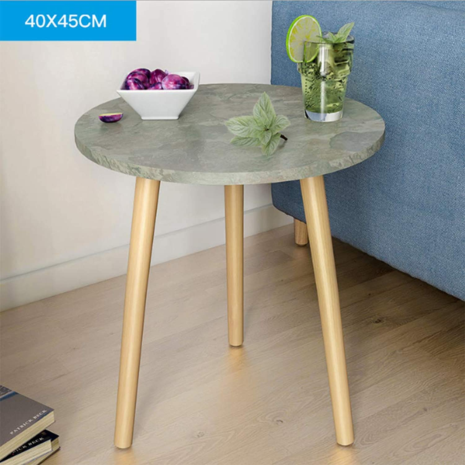 Coffee Table Modern Round Side Sofa Snack End Tables Nightstand for Living Room Home and Office (Round),B