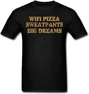 onekee Men's WiFi Pizza Sweatpants Big Dreams T-Shirt