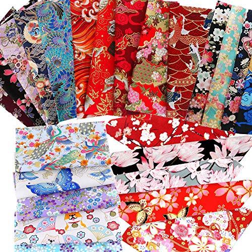 ASNOMY 30 piezas 25 cm x 20 cm Tela algodon Telas Patchwork con Estampados Florales para Manualidades Tela de Algodón Lisa para Costura Manualidades Accesorios Hechos a Mano