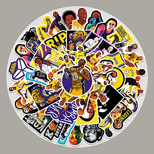 YCYY 51 Basketball Star Kobe Doodle Stickers Luggage Scooter Car Motorcycle Guitar Decorative Stickers