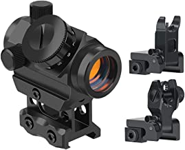 Feyachi RDS-25 Red Dot Sight 4 MOA with Flip Up Rear Front and Iron Sights
