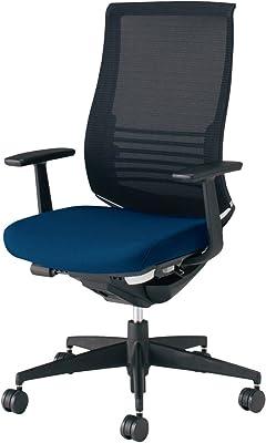コクヨ ベゼル イス オフィスチェア 背ブラック/座プルシアンブルー ファンクショナルタイプ デスクチェア 事務椅子 ハイエンドモデル CR-2823E6CGMT6-V 【ラクラク納品サービス】