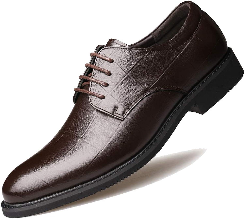 Ganzhoutuxinkejiyouxiangongsi Men's Oxford Fashion Trends Business Dress Leather shoes Top Breathable Strap Single shoes Men's shoes
