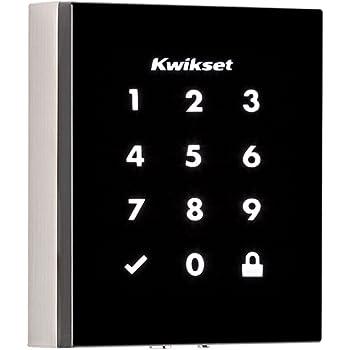 Kwikset Obsidian Keyless Touchscreen Electronic Deadbolt (Amazon Key Edition – Amazon Cloud Cam required) in Satin Nickel