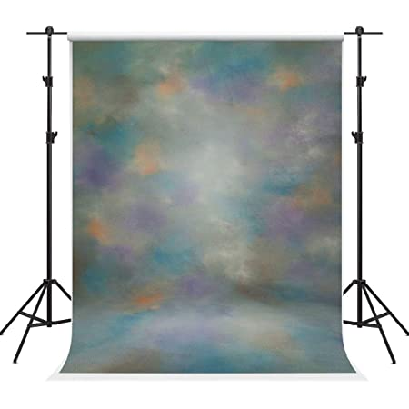 Kate 5×7ft Mixed Abstract Photography Backdrop Blue Purple Gradient Portrait Backdground for Photographer Headshot Fabric Photo Studio Props