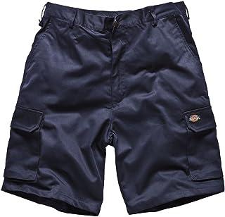 "Dickies Mens Work-wear Redhawk Cargo Shorts Multi Pocket Combat Work Pants WD834 (Waist to Fit 32"", Navy Blue)"