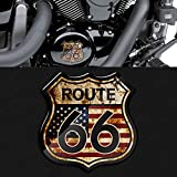 nobrand 3D Motorrad Aufkleber Motorrad Aufkleber Retro Style Us Route 66 Aufkleber Aufkleber Auto Styling