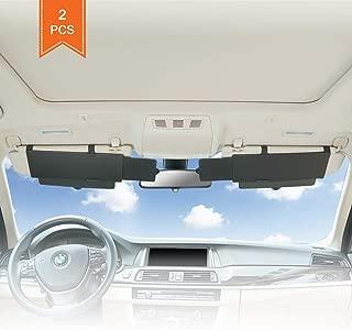 TFY Car Visor Sunshade Extender Anti-Glare Sun Visor Extender Window Sunshade and UV Rays Blocker - Black (2 Pieces)