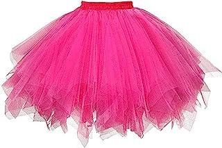 aihihe Adult Tutu Plus Size Skirt, Classic Elastic 3 Layer Tulle Tutu for Women and Teens