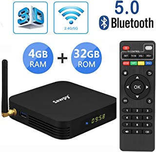 Sawpy TX6 Android tv Box 9.0 4GB RAM DDR3 + 32GB ROM Allwinner H6 up to 1.5 GHz Quad core ARM Cortex-A53 4K&6K 2.4GHz&5GHz WiFi Bluetooth 5.0 USB 3.0 Smart TV Box