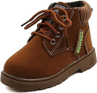 أحذية طويلة برقبة كلاسيكية برباط حتى الكاحل في الهواء الطلق من Comfyea للأطفال الأولاد والبنات