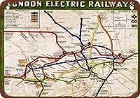 2個 London Electric Railways CoffeeHouseまたはHomeMetal Tin Sign 30X20 CM