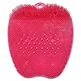 Foot Scrubber for Use in Shower - Foot Cleaner & Shower Foot Massager by Love Lori - Foot Care For Women & Teen Girls, Improves Circulation, Soothes Achy Feet & Reduce Pain - w/ Suction Cups (Pink)
