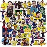 KEJIA Neymar Football Star teléfono móvil computadora Maleta Equipaje Pegatinas Impermeables 50 Hojas
