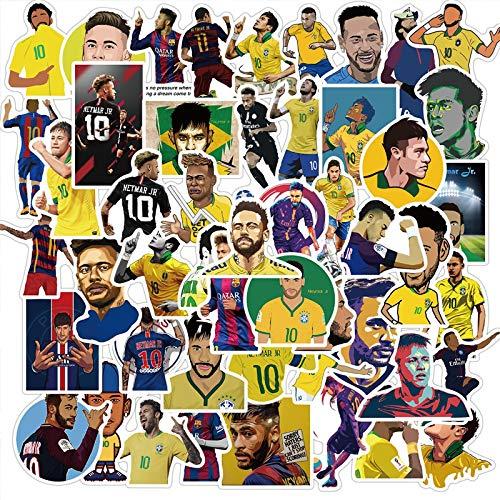 KEJIA Estrella de fútbol Barcelona, teléfono móvil, Ordenador, Maleta, Equipaje, Pegatinas, 50 Hojas