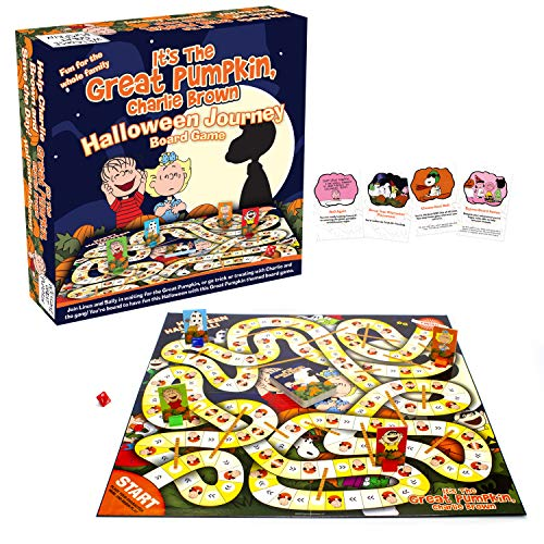 AQUARIUS Peanuts Great Pumpkin Board Game - Peanuts Themed Board Game - Fun Family Holiday Gift for Kids and Adults - Officially Licensed Peanuts Comics and Show Merchandise & Collectibles