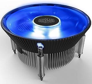 インテル1156 1155 1151 1150 CPUラジエータ120ミリメートルファンミニCPUクーラー12センチメートルLED青色光静かな冷却ファン用PCクーラーマスターI 70 C(銅コア)