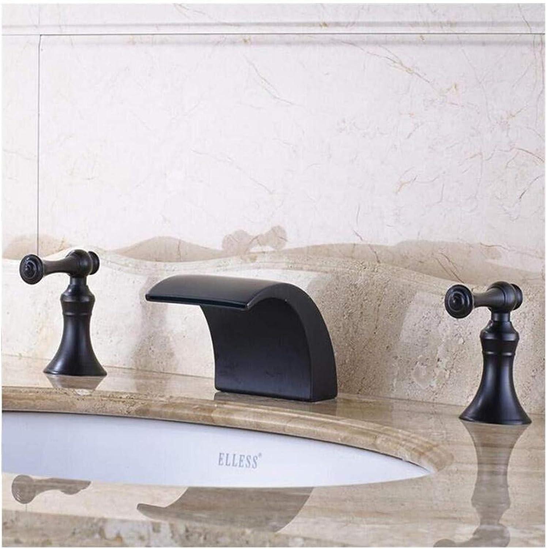 Wasserhahn Küche Bad Garten Waschtisch-Mischbatterie Wasserfall Waschbecken Wasserhahn Doppel Griffe Ctzl1913