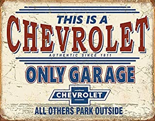 Desperate Enterprises Chevrolet Only Garage Tin Sign, 16