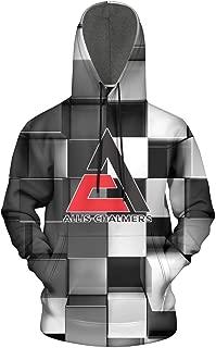 WalterFanny Men Allis-Chalmers-Corporation-Logo- Hooded Geometric Long Sleeve Casual Wool Warm Sweatshirt